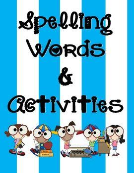 Grade 1 Spelling Homework Master Worksheet for 1st Grade