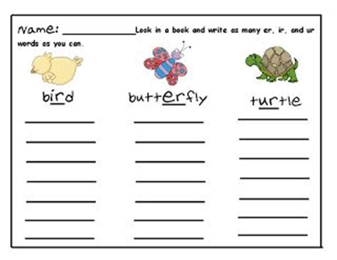 First grade spelling homework ideas